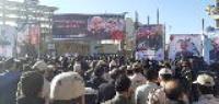 حضور مدیر عامل و کارکنان شرکت آب و فاضلاب شهری استان ایلام در مراسم بزرگداشت سردار شهید سپهبد «سلیمانی»
