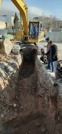 خطوط انتقال آب و فاضلاب در مسیر احداث زیر گذر میدان شهید کشوری جابهجا شد