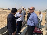 بازدید مدیرعامل شرکت آب و فاضلاب شهری استان ایلام از جابجایی خط انتقال پایانه مرزی مهران