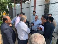 معاون عمرانی استانداری ایلام از زیرساختهای اربعین شرکت آبفا درمرز مهران بازدید کرد