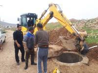 شستشوی خط انتقال 500 میلی متری فاضلاب شهر سرابله