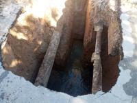 رفع انسداد و شکستگی خط انتقال ۴۰۰میلیمتری فاضلاب در شهر مهران