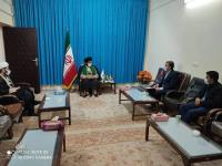 دیدار مدیر امور آب و فاضلاب شهرستان مهران با امام جمعه این شهرستان