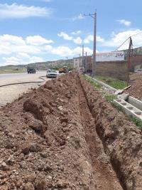 توسعه 1000 متر شبکه آب در شهرک شهید کشوری  شهر ایلام