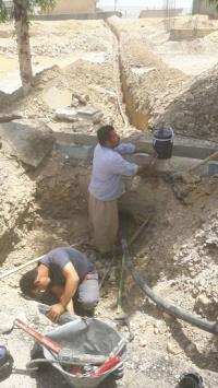 توسعه 200 متر شبکه آب در شهر  صالح آباد