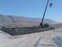 عملیات اجرایی بتن ریزی فندانسیون مخزن ۵۰۰ مترمکعبی  چم شیر شهرستان سیروان انجام گردید