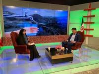 حضور مدیرعامل شرکت آبفا استان در برنامه  افق روشن سیمای مرکز ایلام