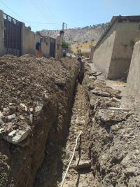 اجرای 150 متر شبکه توزیع آب در روستای حسین آباد بخش سیوان