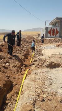 توسعه 1150 متر شبکه آب در شهرستان هلیلان