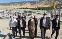 بازدید نماینده ولی فقیه و امام جمعه ایلام از طرح آبرسانی به شهرستان ملکشاهی