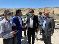 بازدید رئیس کمیسیون عمران مجلس شورای اسلامی از طرح آبرسانی به ملکشاهی