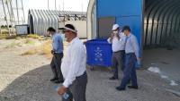 بازدید مدیرکل دفتر نظارت بر بهره برداری آب شرکت مهندسی آبفای کشور از تاسیسات آبرسانی پایانه مرزی مهران