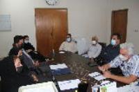 جلسه معاون منابع انسانی شرکت آب و فاضلاب استان ایلام با شرکت های  بیمه گر