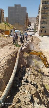 توسعه ۱۰۰ متر شبکه آب در شهر ایلام