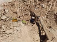رفع دو مورد شکستگی خط انتقال آب در شهر صالح آباد