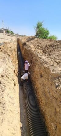 اصلاح و بازسازی 130متر از خط انتقال فاضلاب شهر دهلران
